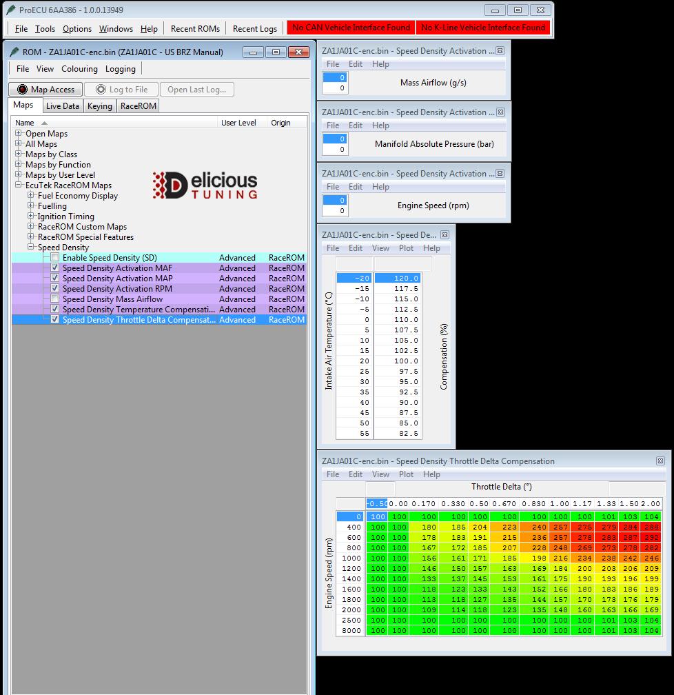 EcuTeK RaceROM Speed Density FRS BRZ | Delicious Tuning